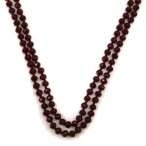Necklace 1722 67 FJ 30 60 inch bead necklace maroon 82