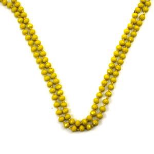 Necklace 1803 30 60 inch bead necklace yellow 84