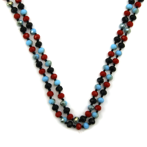 Necklace 1666 67 FJ 30 60 inch bead necklace multicolor dmt1