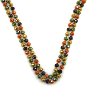 Necklace 1720 67 FJ 30 60 inch bead necklace multicolor mt6