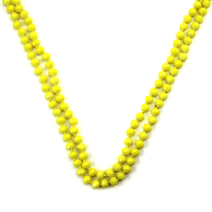 Necklace 109a 30 60 inch bead necklace neon yellow
