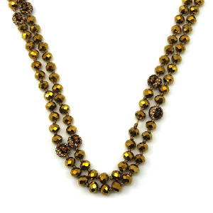 Necklace 944c 67 30 60 inch bead necklace leopard bead accents 26