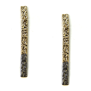 Earring 2635a 69 contemporary bar dipped earrings gold gray
