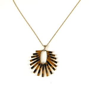 Necklace 738b 69 contemporaryresin necklace tortoise