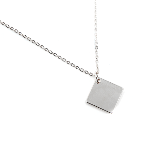 Necklace 185 70 H simple diamond necklace silver