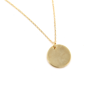 Necklace 178 70 H simple circle necklace gold