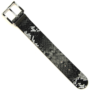 Bracelet 575e 70 snake print buckle leather bracelet