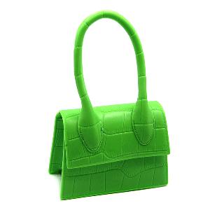 Caleesa mini croc design bag 7143 fluorescent green