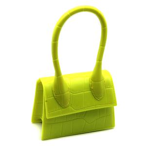 Caleesa mini croc design bag 7143 fluorescent yellow