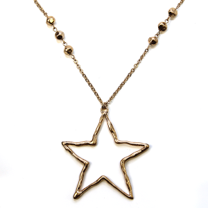 Necklace 459a 71 Viola contemporary star necklace gold