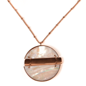 Necklace 409b 71 Viola contemporary abalone necklace rose gold