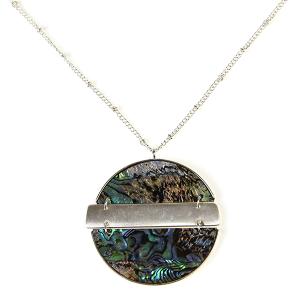 Necklace 402l 71 Viola contemporary abalone necklace silver