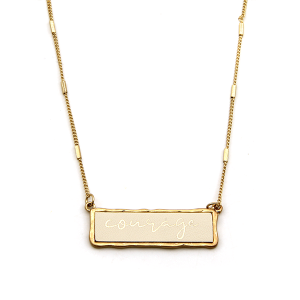 Necklace 1181b 71 Viola Courage necklace ivory gold