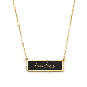 Necklace 1418b 71 Viola Fearless necklace black gold