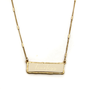 Necklace 1209c 71 Viola Fearless necklace ivory gold