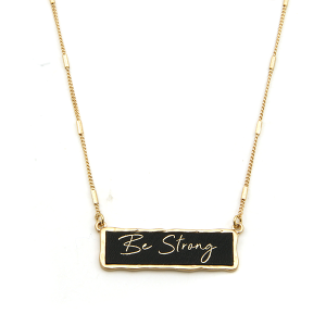 Necklace 1381b 71 Viola Be Strong necklace black gold