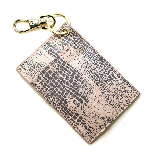 Keychain 017j Card Holder scale print AB light pink