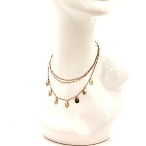 Necklace 400y 77 Pomina multi line necklace gold tear drop
