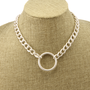 Necklace 1579b 77 Pomina bold chain round silver