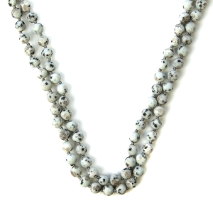 Necklace 1077 77 Pomina semi precious bead necklace gray black