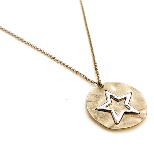 Necklace 273 77 Pomina star necklace circle pendant gold