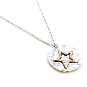 Necklace 288 77 Pomina star necklace circle pendant silver