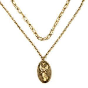 Necklace 923d 77 Pomina double layer necklae angel gold