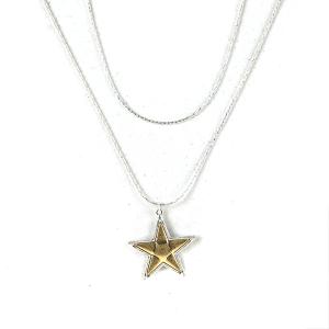 Necklace 952a 77 Pomina string star necklace silver gold