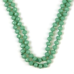Necklace 650 77 Pomina 30 60 inch bead necklace mint
