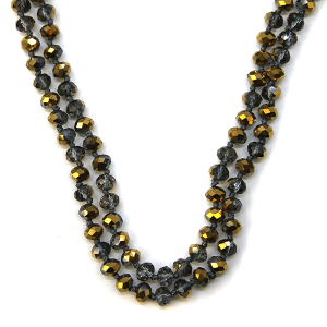 Necklace 1176b 77 Pomina 30-60 inch bead necklace gold smoke