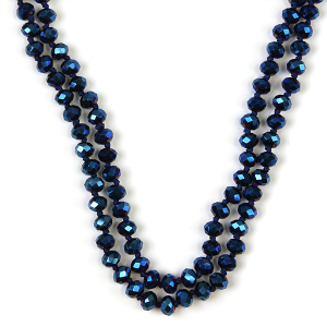 Necklace 789e 77 Pomina 30 60 inch bead necklace blue ab