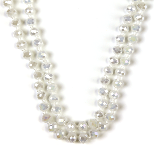 Necklace 641a 77 Pomina 30 60 inch bead necklace white ab