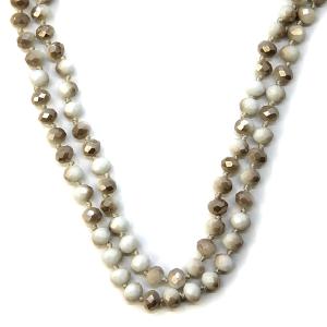 Necklace 1179 77 Pomina 30-60 inch bead necklace ivory