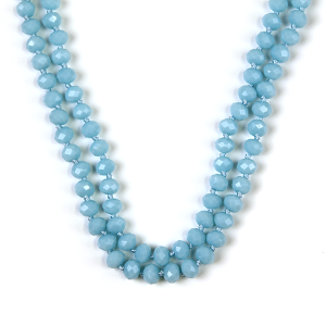 Necklace 787d 77 Pomina 30 60 inch bead necklace blue mint