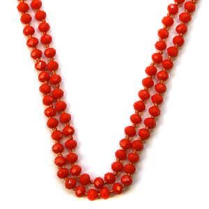 Necklace 792a 77 Pomina 30 60 inch bead necklace orange