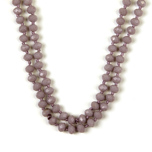 Necklace 768a 77 Pomina 30 60 inch bead necklace lavender