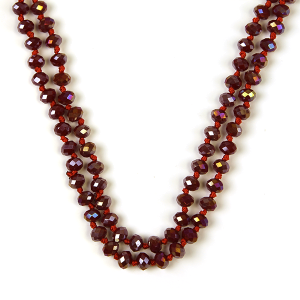 Necklace 1472a 77 Pomina 30 60 inch bead necklace red ab