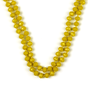 Necklace 757a 77 Pomina 30 60 inch bead necklace yellow