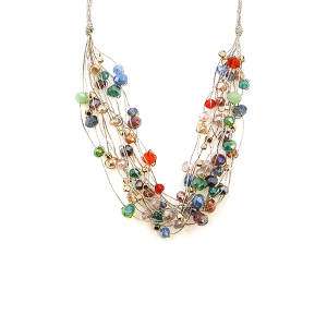 Necklace 426 78 A Project string bead accents multicolor