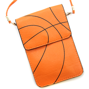 Basketball Pouch Crossbody Leather