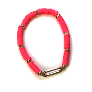 Bracelet 376a 78 A Project Contemporary Bracelet Stretch hot pink