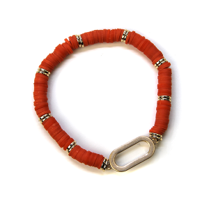 Bracelet 373 78 A Project Contemporary Bracelet Stretch orange