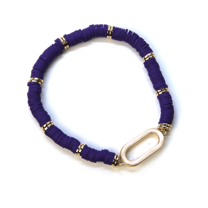 Bracelet 368 78 A Project Contemporary Bracelet Stretch purple