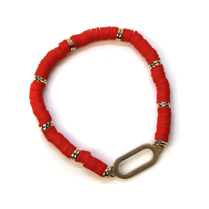 Bracelet 366 78 A Project Contemporary Bracelet Stretch red