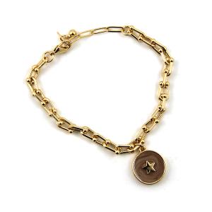 Bracelet 215d 78 A Project chain bracelet star dark pink