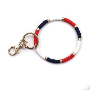 Keychain 023c 78 A Project Wrist Keychain red white blue usa