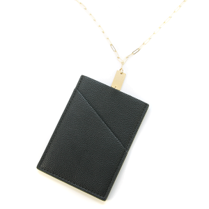 Necklace 839b 78 A Project ID Card Holder Necklace leather black