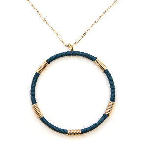Necklace 2116a 78 A Project contemporary hoop necklace d teal