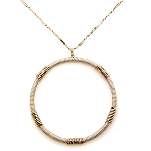 Necklace 2128a 78 A Project contemporary hoop necklace ivory