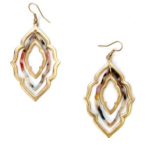 Earring 234a 79 LucyLou filigree earrings drop gold multicolor
